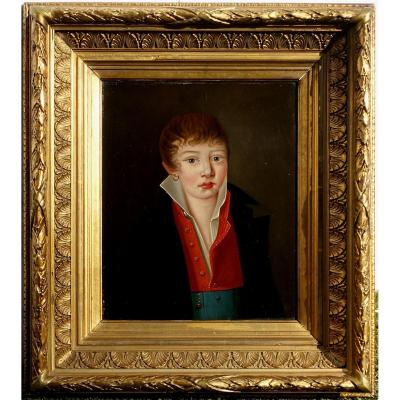 Portrait Of Gabriel Courouble, 1818, At 16 Years Old, English School