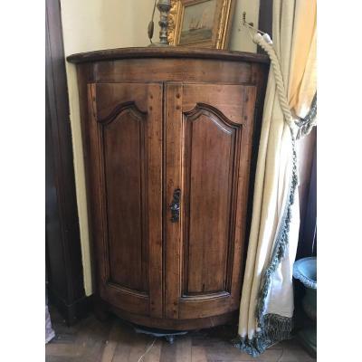 Louis XV Provençal Corner Cabinet