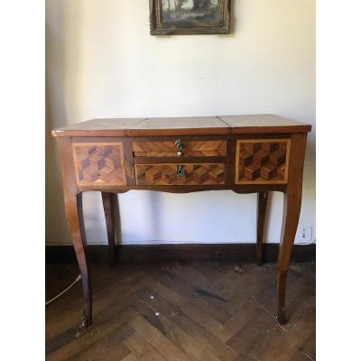 Louis XV Period Dressing Table Cubic Marquetry