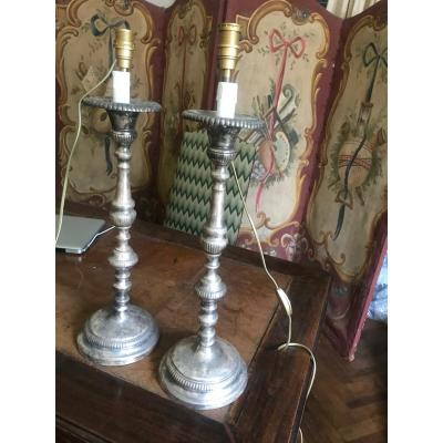 Pair Of Louis XVI Silver Candlesticks