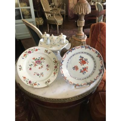 Pair Of Plates Compagnie Des Indes XVIIIth