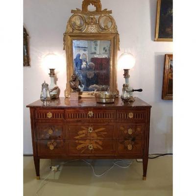 Très Belle Commode XVIIIème Siècle, d'époque Louis XVI, Estampillée Jean-martin Schiller