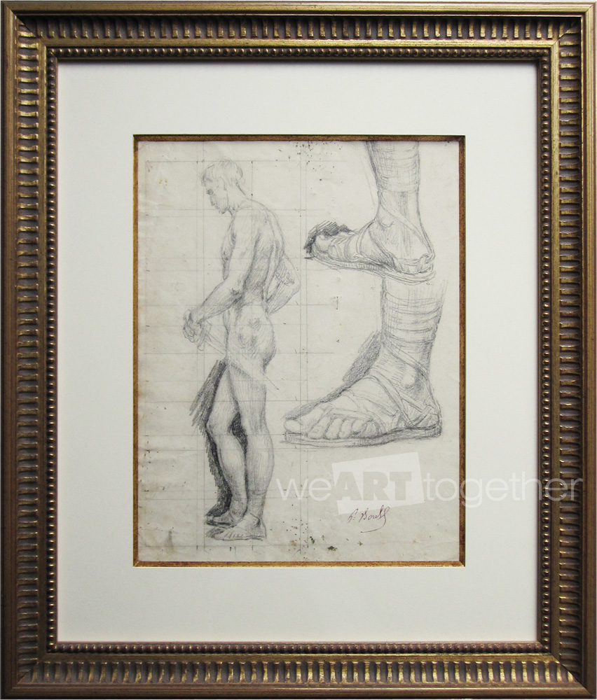 Paul Borel, Study For The Martyrdom Of Saint Paul (centurion Right Wing, St. Paul Church In Lyon)