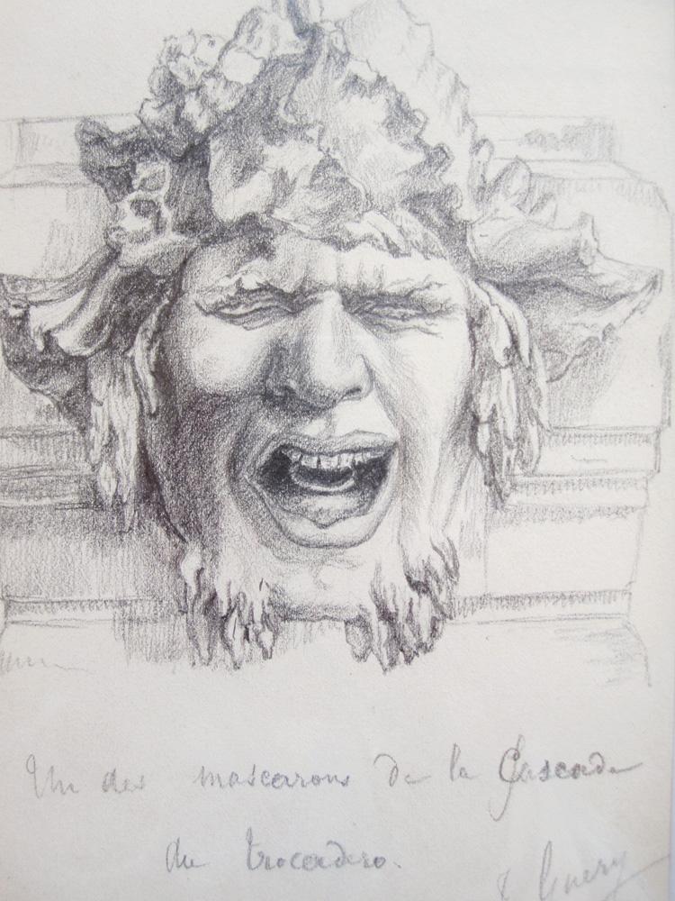 Second Grotesque Mask Of The Trocadéro Cascade, After Rodin