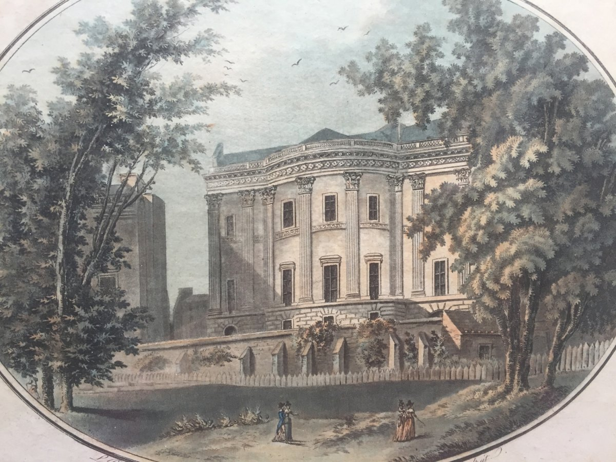 Eighteenth Engraving, A View Of Lord Barrymores In Picadilly House Taken From S. James Park, 1792-photo-3