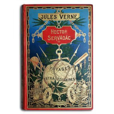 Jules Verne, Hector Servadac, Globe Doré, édition Hetzel, 1896