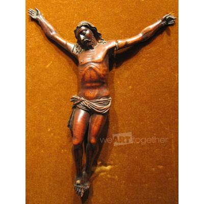 Christ en buis sculpté Haute époque XVIIème