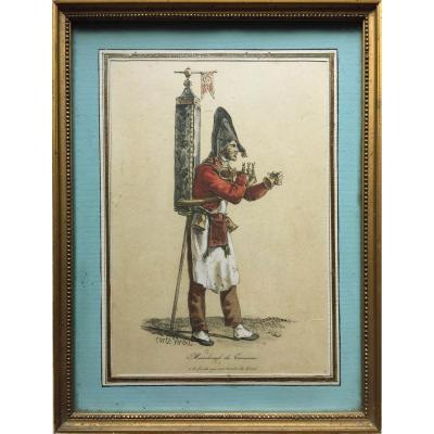 Carle Vernet (d'après), Le marchand de tisanes, lithographie XIXe, circa 1825