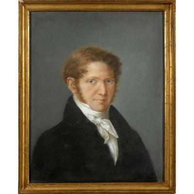 Cercle D'Élisabeth Vigée Le Brun 1755-1842 Fin 18e-1er Empire Portrait d'un Aristocrate Pastel