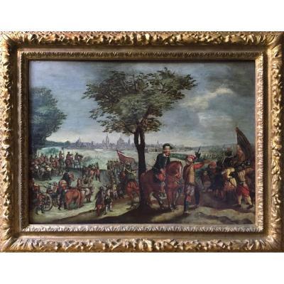 Esaias VAN DE VELDE (1587-1630), cercle de, Ecole hollandaise XVIIe, Siège de la ville de Leyde