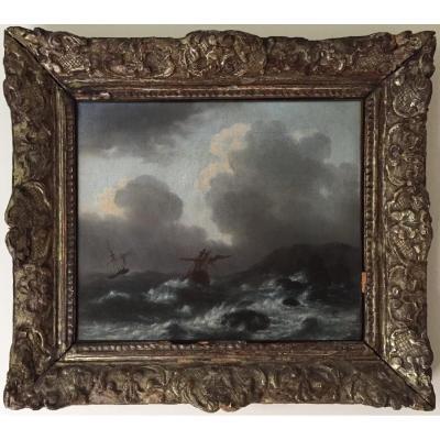 Marine, école Flamande du XVIIe, Bonaventura PEETERS (1614-1652)