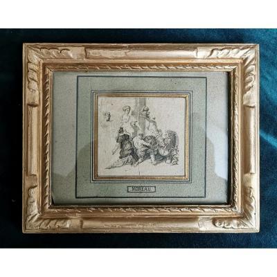 GUSTAVE MOREAU (1826-1898) cercle de, Composition orientaliste, Dessin à la mine de plomb