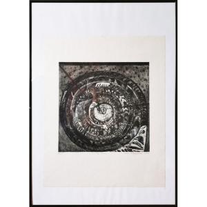 Marie Filippovová, The Snail, Gravure originale signée, intitulée, numérotée 18/25, datée 1971