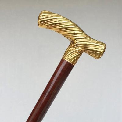 18k Gold Opera Handle Cane, 19th Century