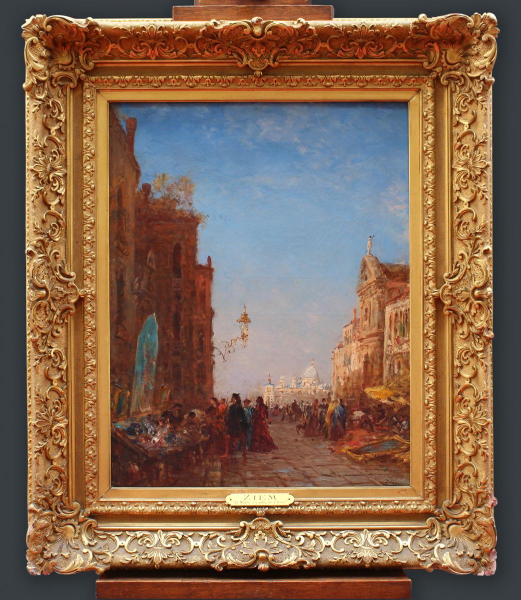 Félix Ziem (1821–1911) - Marché Aux Antiquités à Venise
