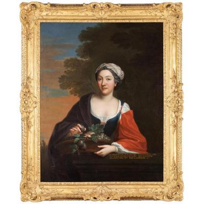 Portrait De Henriette Julie De Dufort De Duras  Comtesse D'egmont Et De Braine  ( 1696 – 1778 )