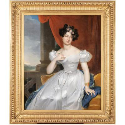 Portrait Of Valentine Julie From Contades - Rt Berthon (1776-1849)
