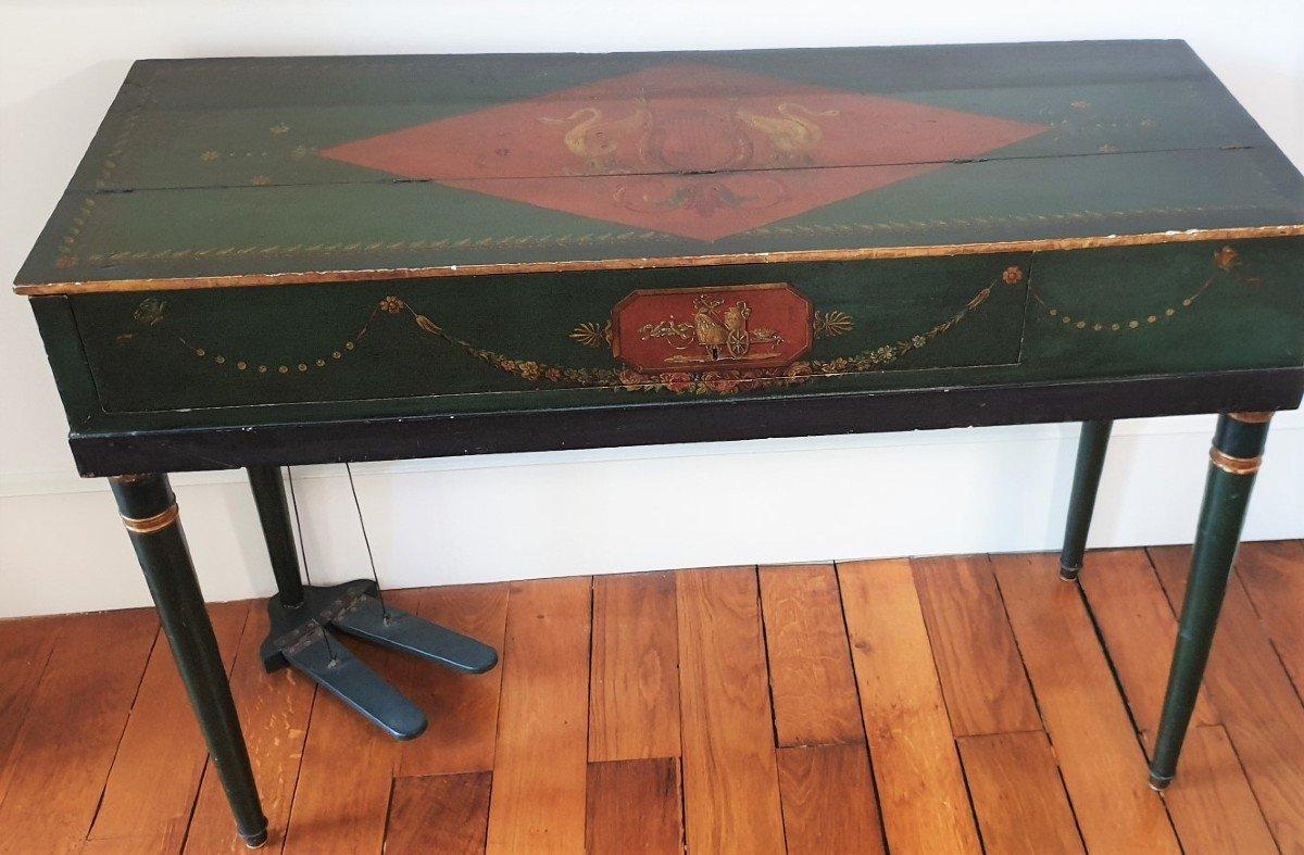 Un Salon De Musique clé en main Piano Erard Flûte Ophicleide Harpe Instruments De Musique Anciens-photo-2