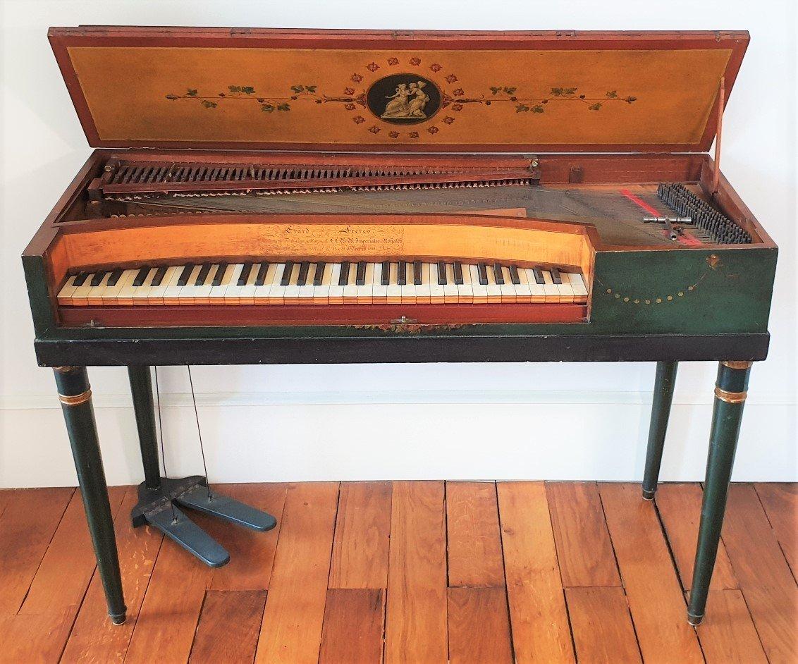 Un Salon De Musique clé en main Piano Erard Flûte Ophicleide Harpe Instruments De Musique Anciens-photo-3
