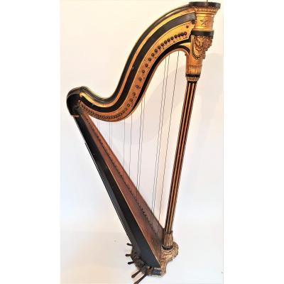 Très rare Harpe de Cousineau à chevilles tournantes