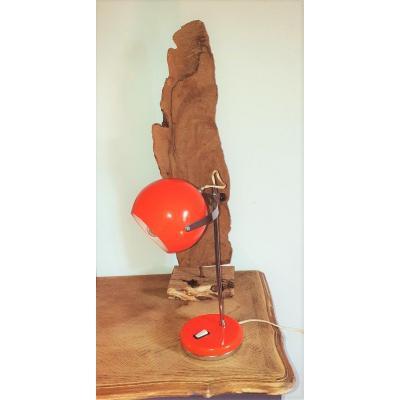 Vintage Orange Eyeball Lamp 1960