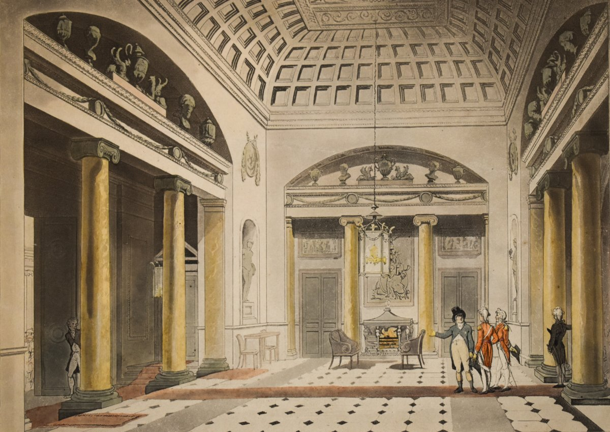 Thomas Rowlandson And Augustus Charles Pugin – The Hall Carlton House – 1808