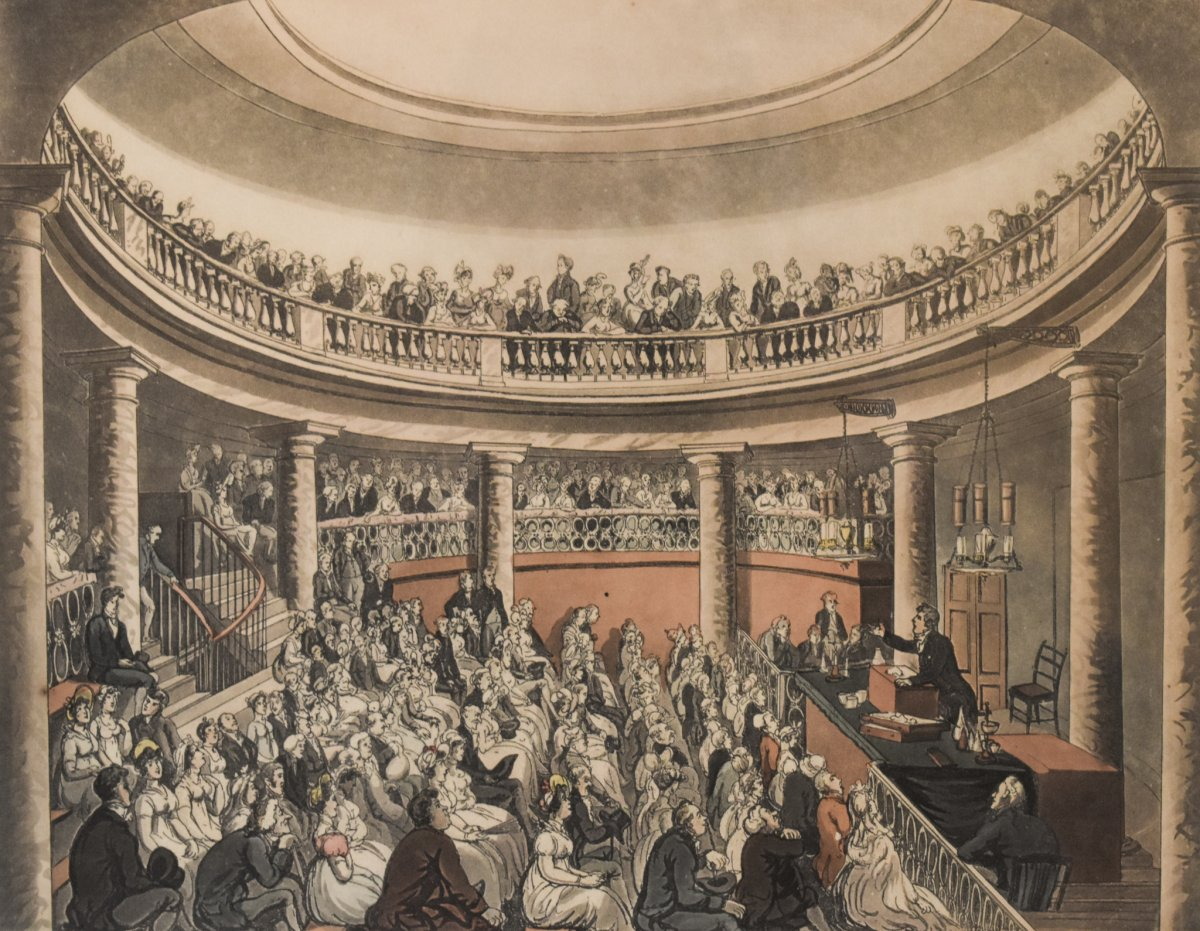 Thomas Rowlandson et Auguste Charles Pugin – Surrey Institution – 1809