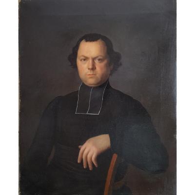 Portrait de prêtre - Ecole française du XIXe siècle - Vers 1870