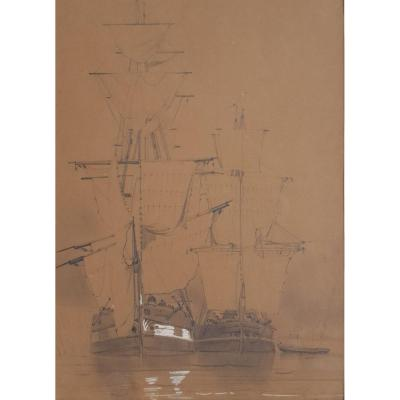Louis Bentabole - The Three Masts - Circa 1870