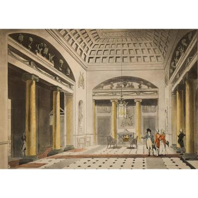 Thomas Rowlandson et Auguste Charles Pugin – The Hall Carlton House – 1808