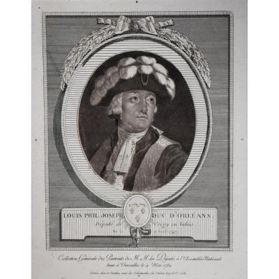 Le Vachez – Louis Philippe, duc d'Orléans – 1789