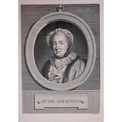 Pierre Charles Lévêque – Portrait Of Mme De Graffigny – 1772