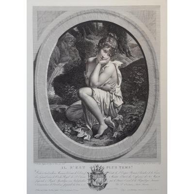 Pierre Audouin – Il n'est plus tems, d'après Pierre Bouillon – 1804