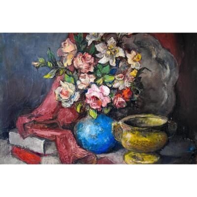Alexis Hinsberger – Still Life With Flowers – Circa 1970