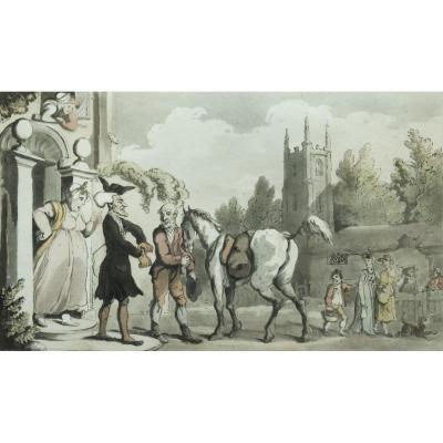 Thomas Rowlandson – Dr. Syntax Setting out on his Tour to the Lakes – 1813