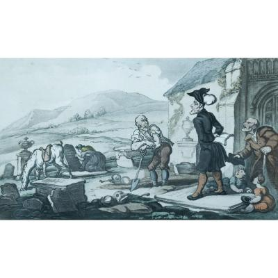 Thomas Rowlandson – Doctor Syntax Meditating on the Tomb Stones – 1813