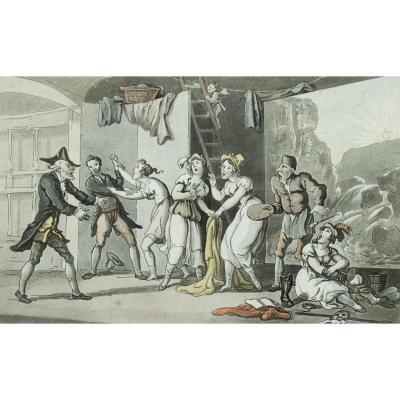 Thomas Rowlandson – A Tragic Story at Avignon – 1812