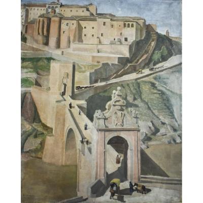 Hélène Delaroche – Vue du pont d'Alcántara – 1933