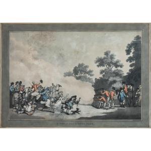 Thomas Rowlandson et Thomas Malton – A Field Day at Hyde Park – 1794