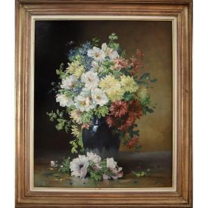 Edmond van Coppenolle – Fleurs dans un vase – Vers 1880