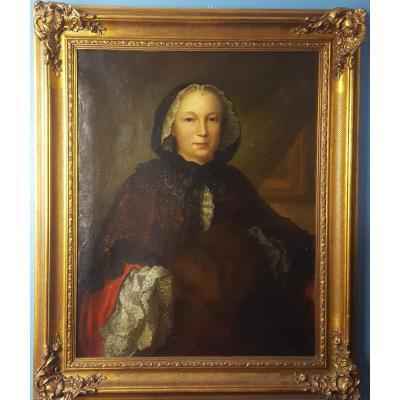 Portrait d'une femme de qualité  École française vers 1740