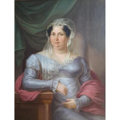 Anton Bayer Portrait d'une femme de qualité 1822