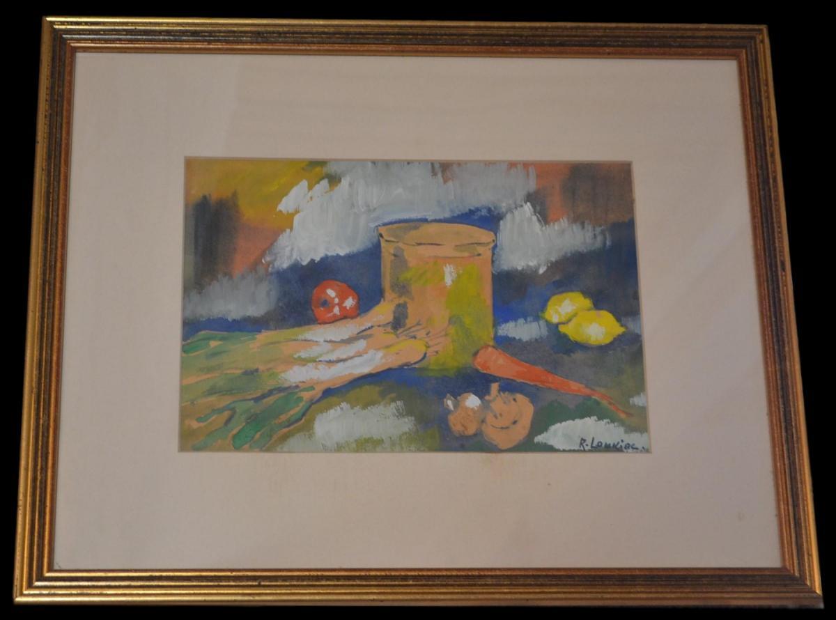 """loukine Rostislas (1904 -1989) - Still Life With Leeks - Circa 1975"""