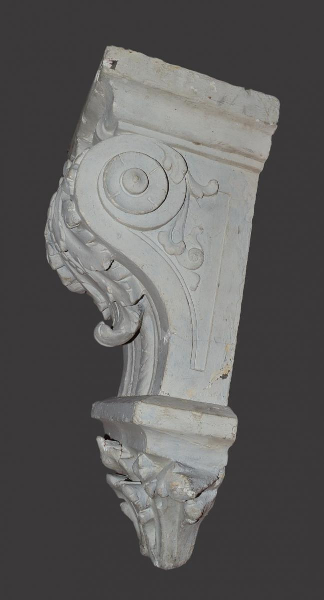Console plaster nineteenth century to acanthus leaves for Acanthus leaf decoration