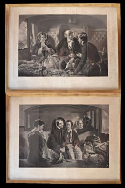Two Engravings, England By W.h .simmons, Circa 1857, Framed