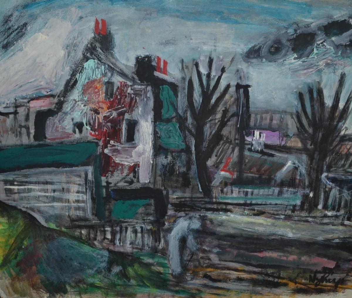 """Peter NYHUYS (1912 - 2005)  """" sans titre """" 1959"""