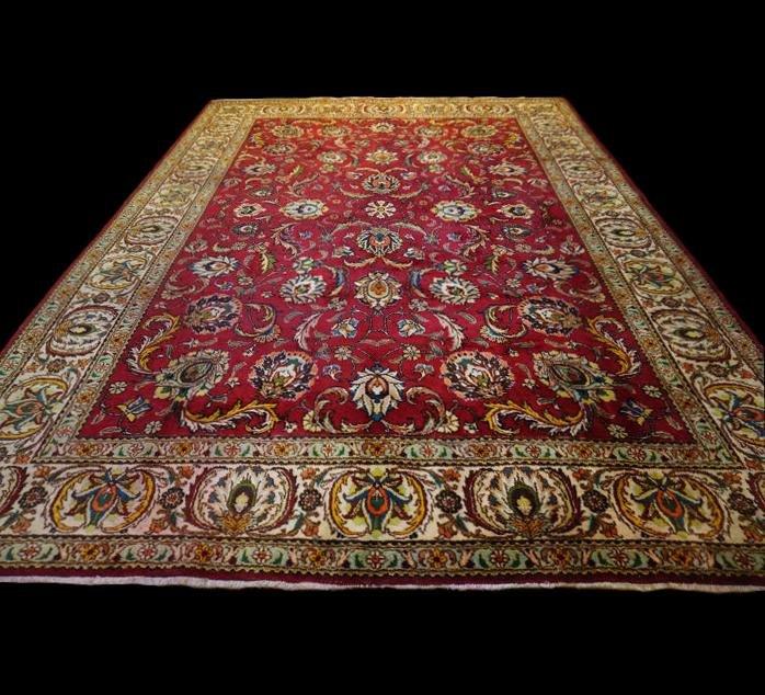 Persian Rug Tabriz, Iran, 299 Cm XX402 Cm, Kork Wool Hand Knotted, Circa 1960