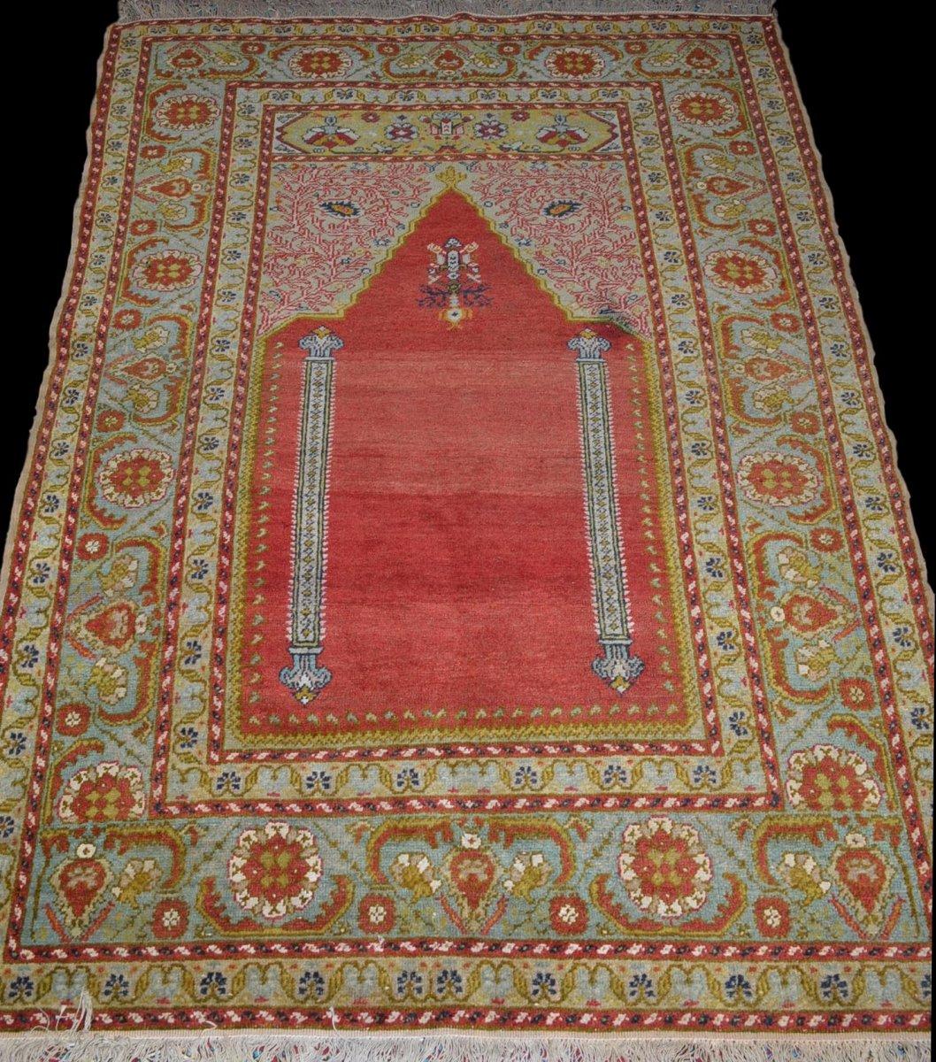Tapis Ghiordès ancien, Anatolie, Turquie,123 cm x 167 cm, début du XXème siècle-photo-2