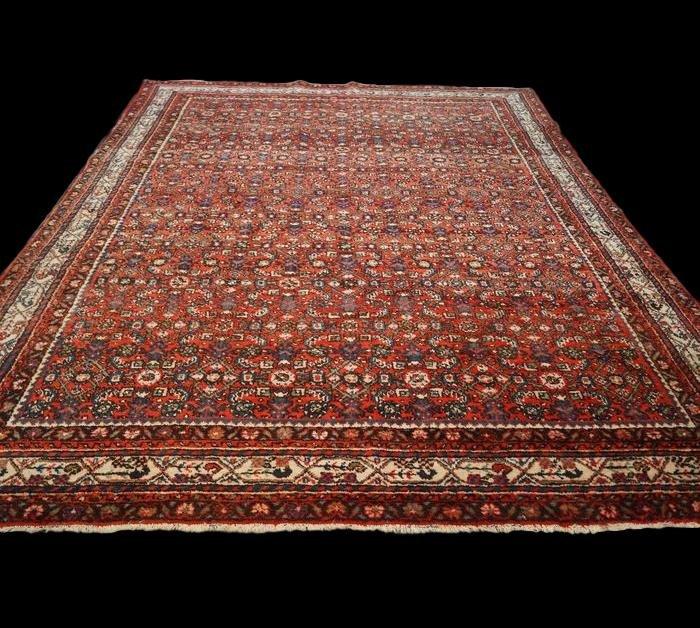 Persian Macchad Rug, Khorassan Decor, 235 Cm X 312 Cm, Iran, Hand-knotted Wool, 1980, Good Condition