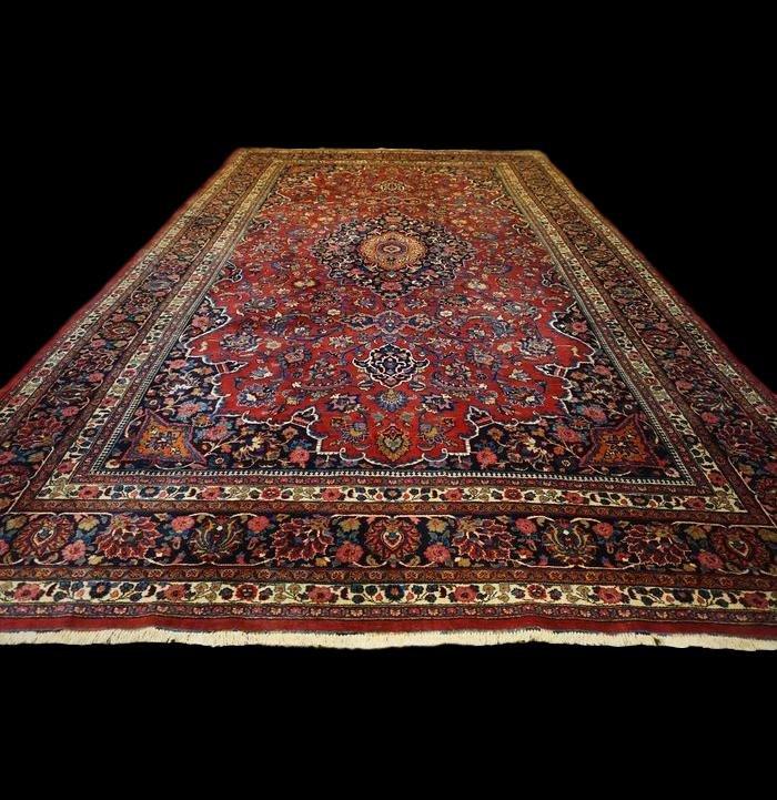 Persian Kashan Royal Rug, 310 Cm X 506 Cm, Iran, Kork Wool, Around 1930, Very Good Condition